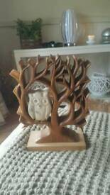 Lovely Wooden owl ornimant