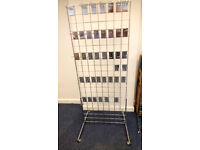 Gridwall Panels (X5), legs, and Eurohooks for sale