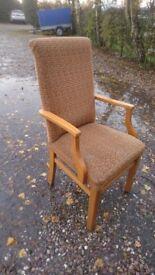 Retro 70's Teak framed G plan style chair
