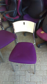 office chair purple conference meeting stacking