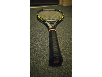 Babolat Aeropro Drive Original with New High Quality Strings, Gprip L5
