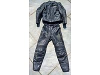 Alpinestars Stella Ladies 2 Piece Black Leather Motorbike Suit