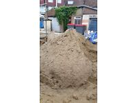 7 tons of lose sharp sand