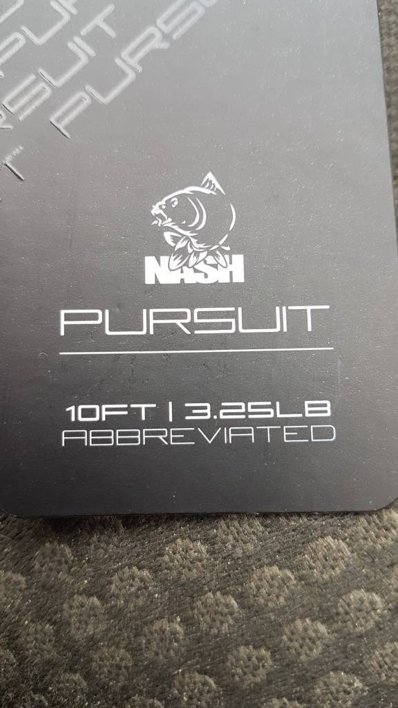 2 x Nash pursuit 10ft 3.25 t.c with abbreviated handle
