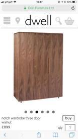 Dwell notch 3 door wardrobe great conditions still £899 online