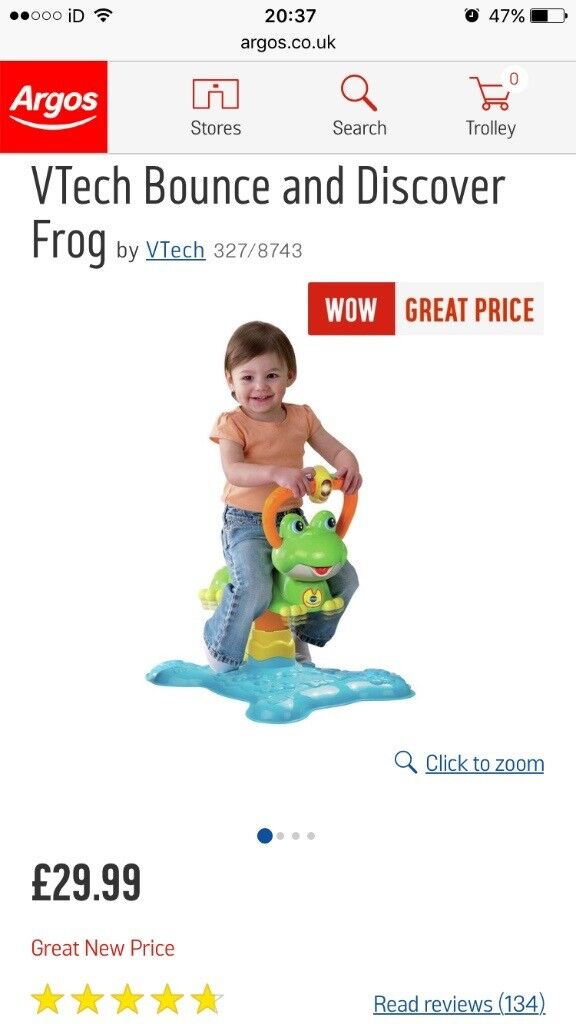 Vtech bounce and play frog