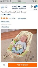 Mothercare forest bouncer chair