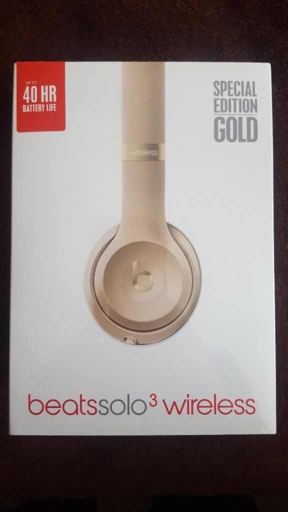 Solo 3 beats by Dr. Dre special edition Gold. NEVER been opened brand new sealed in box from Apple.