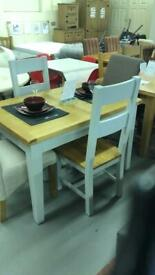 Grey oak extendable dining table RRP 699