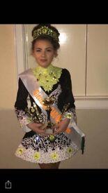 Beautiful Irish dancing costume only 10 months old covered in Swarovski diamonds