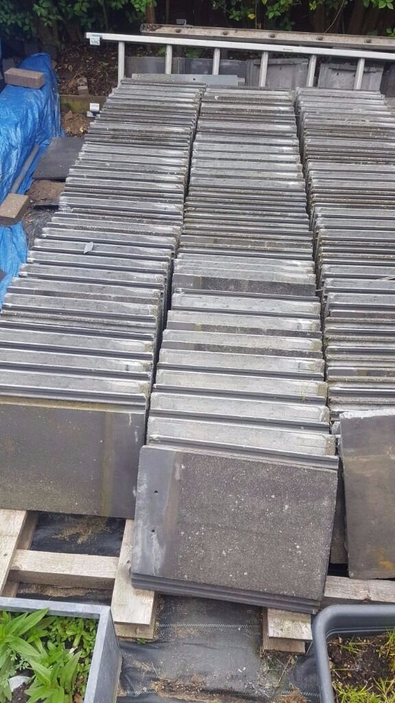 Grey Marley Concrete Roof Tiles In Excellent Clean Condition Offers