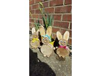 Easter wood Bunnies