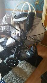 Babies prams with car chair