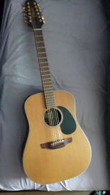 TAKAMINE 12 STRING GUITAR MODEL EAN 10 - 12X. ELECTRO ACOUSTIC NATURAL SERIES JAPAN MADE