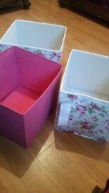3 ikea storage boxes new