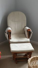Glider rocking chair and footstall