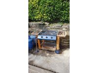 Gas barbeque and 2x 15kg calor gas bottles