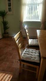 Reduced price Square Dinning room table and 8 chairs