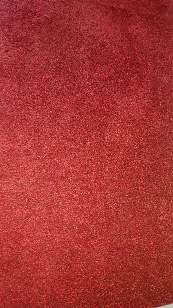 Red carpet and underlay