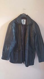 Mens genuine leather jacket XL