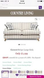 DFS Country Living Sofa and Footstool