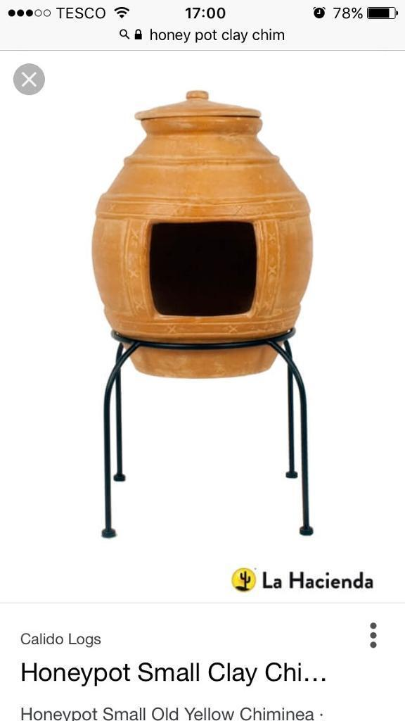Honey pot clay chimenea