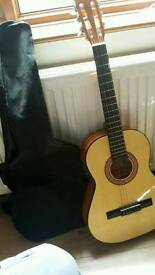 Guitar With Case & Tuner