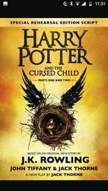 Harry potter and cursed child tickets x2 wednesday 14th june