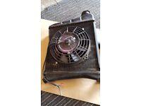 Classic mini Radiator with electric fan