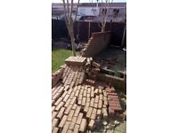 Bricks for garden wall, free to collect.