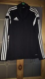 Black and white Adidas jacket
