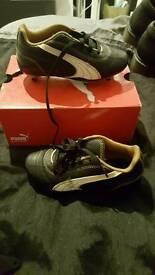 black puma football boots kids size 11