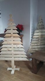 Xmas decoration wooden christmas tree
