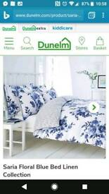 KING-SIZE Dunelm reversible duvet set