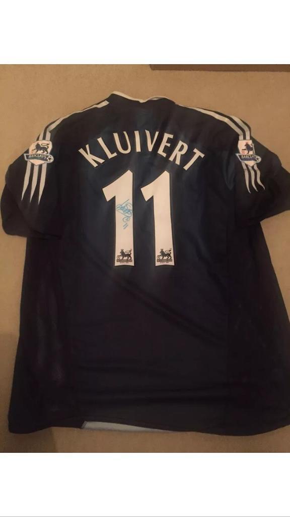 Patrick kluivert hand signed shirt  5508de836