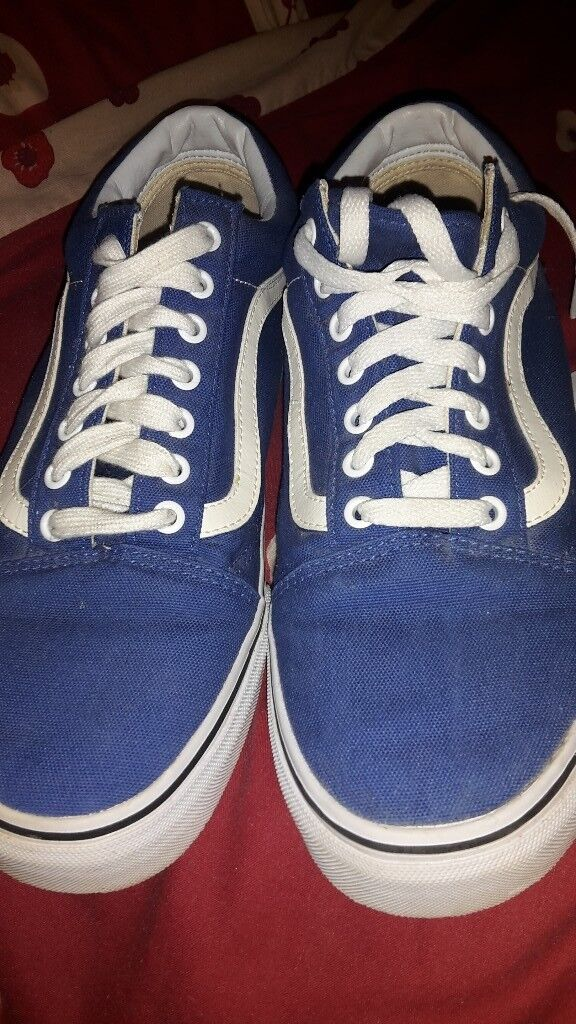 cfeeab6e2456 Vans blue casual shoes with white trim . Size 10