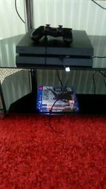 Ps4 console 500gb with battlefield 1 game call of duty advance welfare and another game