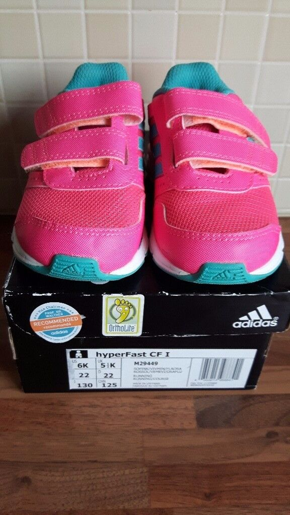 Girls addidas trainer infant size 5 1/2 as new