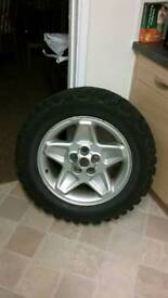Land rover/range rover/discovery wheels and tyres