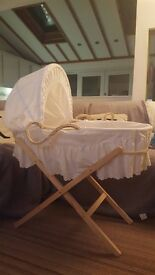 Moses basket with stand and mattress excellent condition