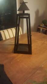 Black candle holder / lantern