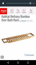 Habitat Bethany Bamboo Over Bath Rack