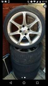 Set of KC racing alloys with tyres