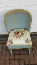 LLOYD LOOM STYLE CHAIR INCORPORATING COMMODE