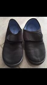 M & S Boys Black Plimsolls Size 12