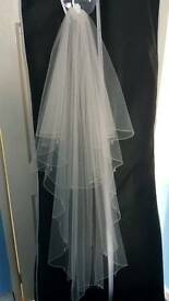 Ivory fingertip veil (Richard Design)