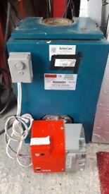 Central heating burner