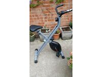The V-Fit mxc1 folding x-frame magnetic exercise cycle