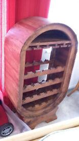 21 Bottle Wooden Wine Rack + Also Holds Glasses - Leysdown-on-Sea