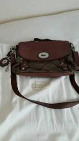 Fossil real leather bag
